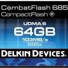 Delkin: Wasserfeste und schnelle Compact-Flash-Karten