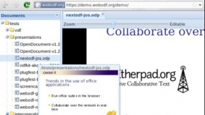 Open Document Format direkt im Browser anzeigen.