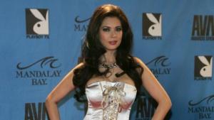 Pornodarstellerin Tera Patrick bei der Verleihung der Adult Movie Awards im  Mandalay Bay Events Center in Las Vegas im Jahr 2008