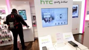 Telekom-Shop mit HTC-Smartphones im Februar 2010 in Berlin