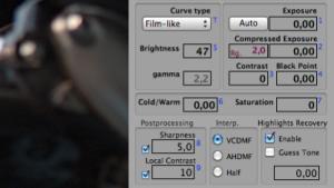 Raw Photo Processor kommt ohne Schieberegler aus.
