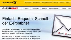 E-Postbrief-Webseite