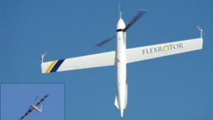 Drohne Flexrotor: senkrecht starten, waagerecht fliegen