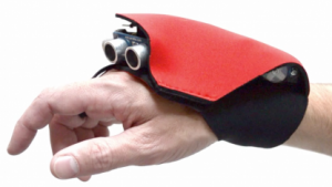Ultraschallsensoren im Tacit-Blindenhandschuh