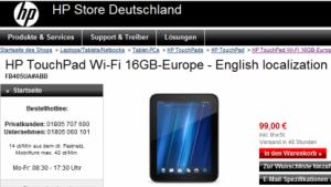 HP haut WebOS-Geräte raus.