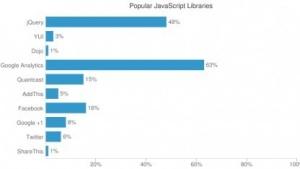 Google Analytics und jQuery sind besonders populär.