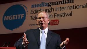 Eric Schmidt am 27. August 2011 in Edinburgh