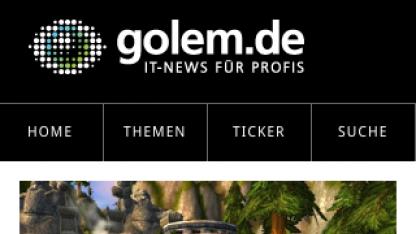 Golem.de auf dem iPhone