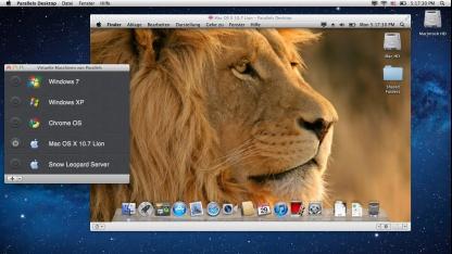 Parallels Desktop 7 für Mac unterstützt Mac OS X Lion nun als Gast-OS.