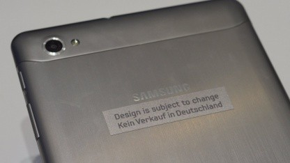 Galaxy Tab 7.7, seit Samstag nicht mehr an Samsungs Stand zu finden.