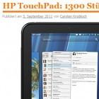 WebOS-Tablet: HP Touchpad heute noch mal für 130 Euro zu haben