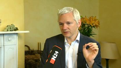 Assange im Interview mit N24
