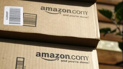 Pakete des Versandhändlers Amazon.com