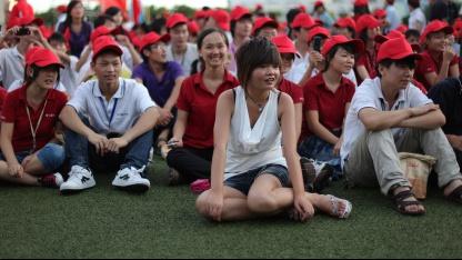 Foxconn-Arbeiter in Shenzhen im August 2010