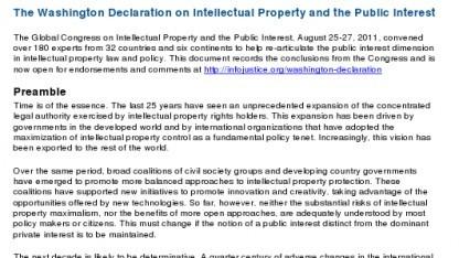 Website zur Unterzeichnung der Washingtoner Deklaration