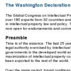 """Geistiges Eigentum: """"Washingtoner Deklaration"""" betont öffentliches Interesse"""