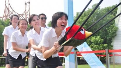 Angry Birds im chinesischen Vergnügungspark Window of the World