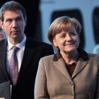 Chefsache: Angela Merkel hilft der Telekom beim Verkauf der US-Tochter