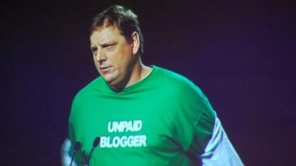 Michael Arrington auf einer Konferenz im September 2011