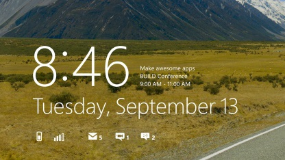 Neuer Lock Screen in Windows 8