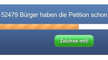 Bereits 50.000 Unterschriften hat eine Petition gegen die Vorratsdatenspeicherung gesammelt.