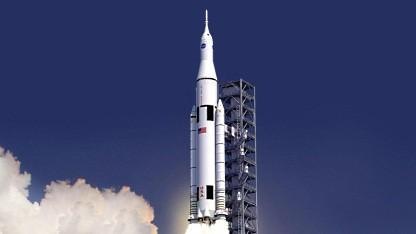 Grafik des Space Launch System