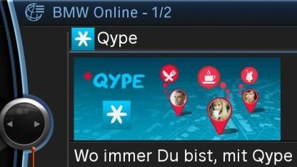 Qype soll BMW-Fahrern helfen, schneller gute Restaurants zu finden.