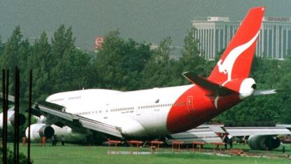 Eine Boeing 747 der australischen Fluggesellschaft Quantas