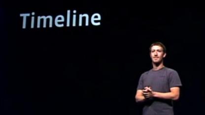 Mark Zuckerberg stellt Facebook Timeline vor.