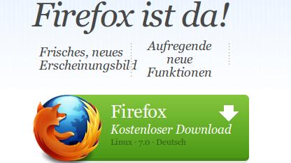 Firefox 7 verspricht eine effizientere Speicherverwaltung und schnellere Ladezeiten.