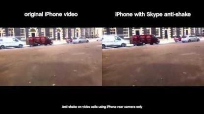 Skype integriert eine Anti-Verwacklungstechnik in seine iPhone-App.