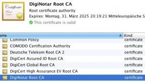 Betriebssystem-Hersteller haben begonnen, Diginotar-Zertifikate zu entfernen.