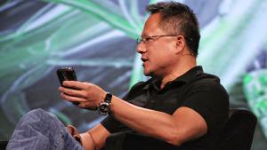 Jen-Hsun Huang und sein Blackberry