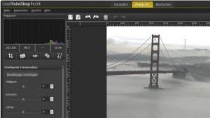 Die neue Benutzeroberfläche von Corel Paintshop Pro X4 ist aufgabenzentriert.