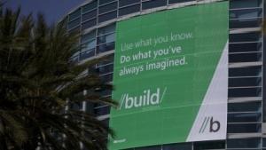 Das Anaheim Convention Center vor dem Start der //build/windows