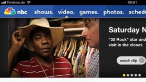 Saturday Night Live auf der NBC-iPad-App