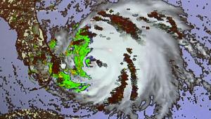 Der Hurrikan Irene unter Beobachtung