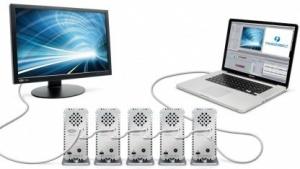 Mehrere Thunderbolt-Disks können zusammen 800 MByte/s erreichen.