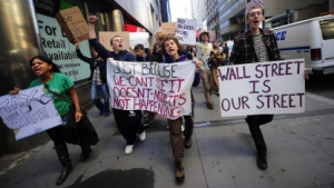 Occupy Wall Street - Demonstranten in New York City am 19. September 2011