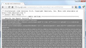 Über eine Javascript-Malware wurden Besucher von MySQL.com auf eine maliziöse Webseite umgeleitet.