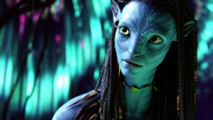 Eine der Bewohnerinnen von Pandora - die Navi-Frau Neytiri