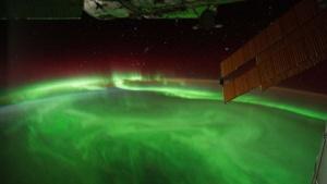 Polarlicht über Neuseeland von der ISS aus gesehen