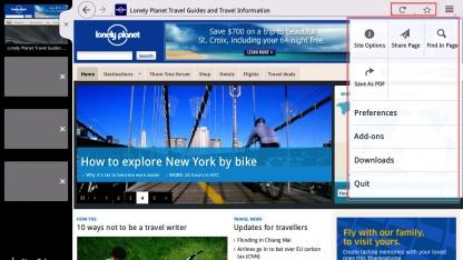 Neues Tablet-UI in Firefox 9 Aurora