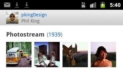 Flickr stellt Android-App vor.