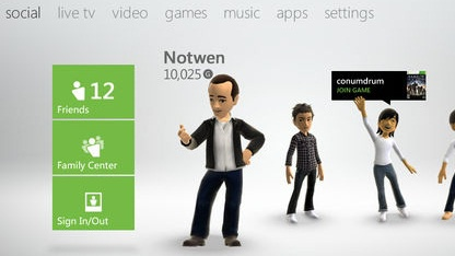 Neues Dashboard der Xbox 360