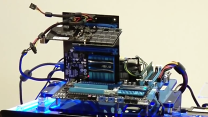 Testaufbau mit PCI-Express 3.0