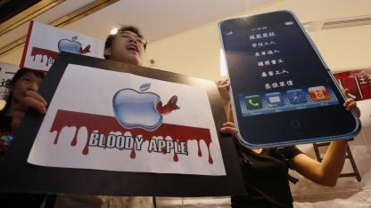 Demonstration in Hongkong gegen Apple