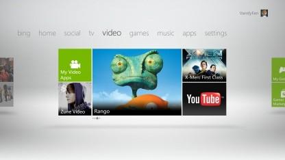 Das neue Xbox-360-Dashboard mit größerem TV- und Videoangebot