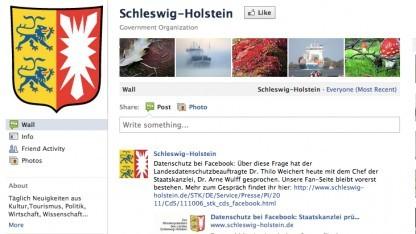 Facebook-Seite von Schleswig-Holstein
