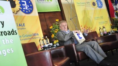 Daniel Cohn-Bendit von den europäischen Grünen/EFA